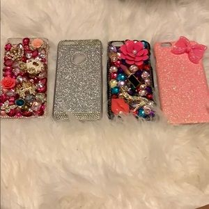 Lot of 4 iPhone 6 Plus bling cases